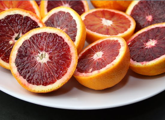 Blood Orange on orange juice pitcher