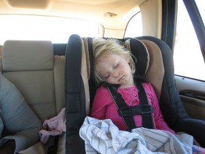 "Lila was a real road-trip trooper, finally falling asleep to Whitney Houston's ""I Wanna Dance with Somebody"""